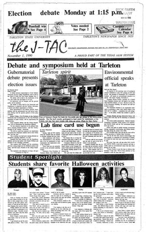 The J-TAC (Stephenville, Tex.), Ed. 1 Thursday, November 1, 1990