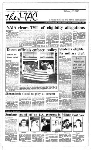 Primary view of The J-TAC (Stephenville, Tex.), Ed. 1 Thursday, February 7, 1991