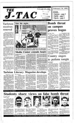 Primary view of The J-TAC (Stephenville, Tex.), Ed. 1 Thursday, February 14, 1991