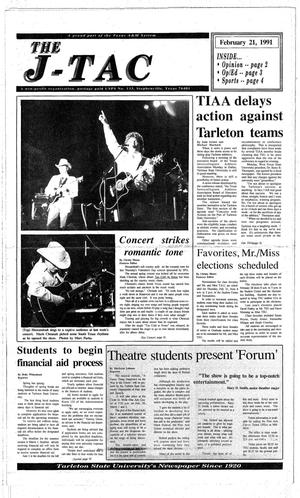 Primary view of The J-TAC (Stephenville, Tex.), Ed. 1 Thursday, February 21, 1991