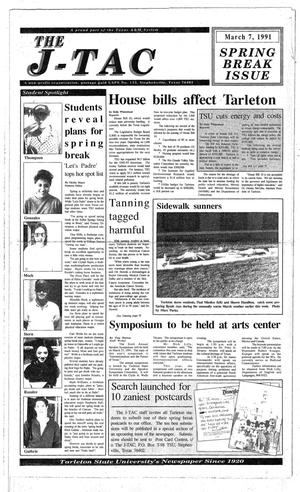 Primary view of The J-TAC (Stephenville, Tex.), Ed. 1 Thursday, March 7, 1991