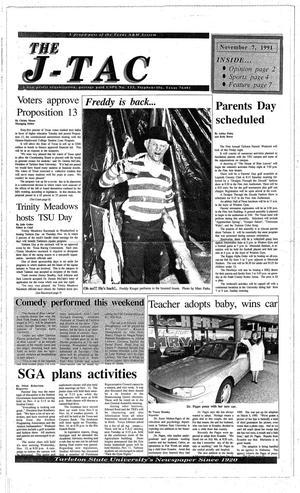 Primary view of The J-TAC (Stephenville, Tex.), Ed. 1 Thursday, November 7, 1991