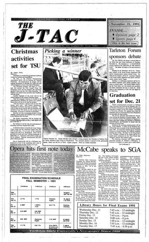 The J-TAC (Stephenville, Tex.), Ed. 1 Thursday, November 21, 1991