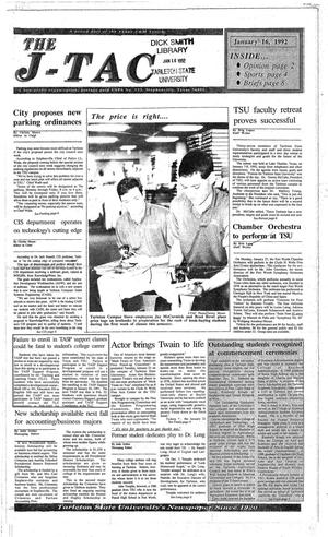 The J-TAC (Stephenville, Tex.), Ed. 1 Thursday, January 16, 1992