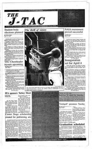 The J-TAC (Stephenville, Tex.), Ed. 1 Thursday, March 26, 1992