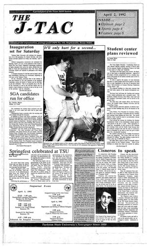 The J-TAC (Stephenville, Tex.), Ed. 1 Thursday, April 2, 1992