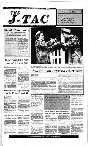 Primary view of object titled 'The J-TAC (Stephenville, Tex.), Ed. 1 Thursday, March 4, 1993'.