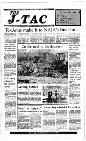 Primary view of object titled 'The J-TAC (Stephenville, Tex.), Ed. 1 Thursday, March 25, 1993'.