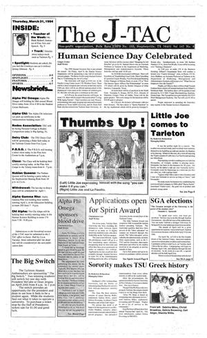 The J-TAC (Stephenville, Tex.), Vol. 147, No. 9, Ed. 1 Thursday, March 31, 1994