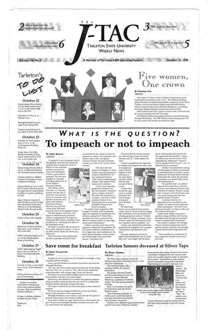 The J-TAC (Stephenville, Tex.), Vol. 156, No. 8, Ed. 1 Thursday, October 22, 1998
