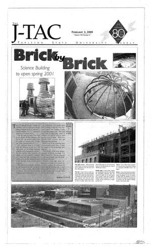 Primary view of object titled 'The J-TAC (Stephenville, Tex.), Vol. 159, No. 2, Ed. 1 Thursday, February 3, 2000'.