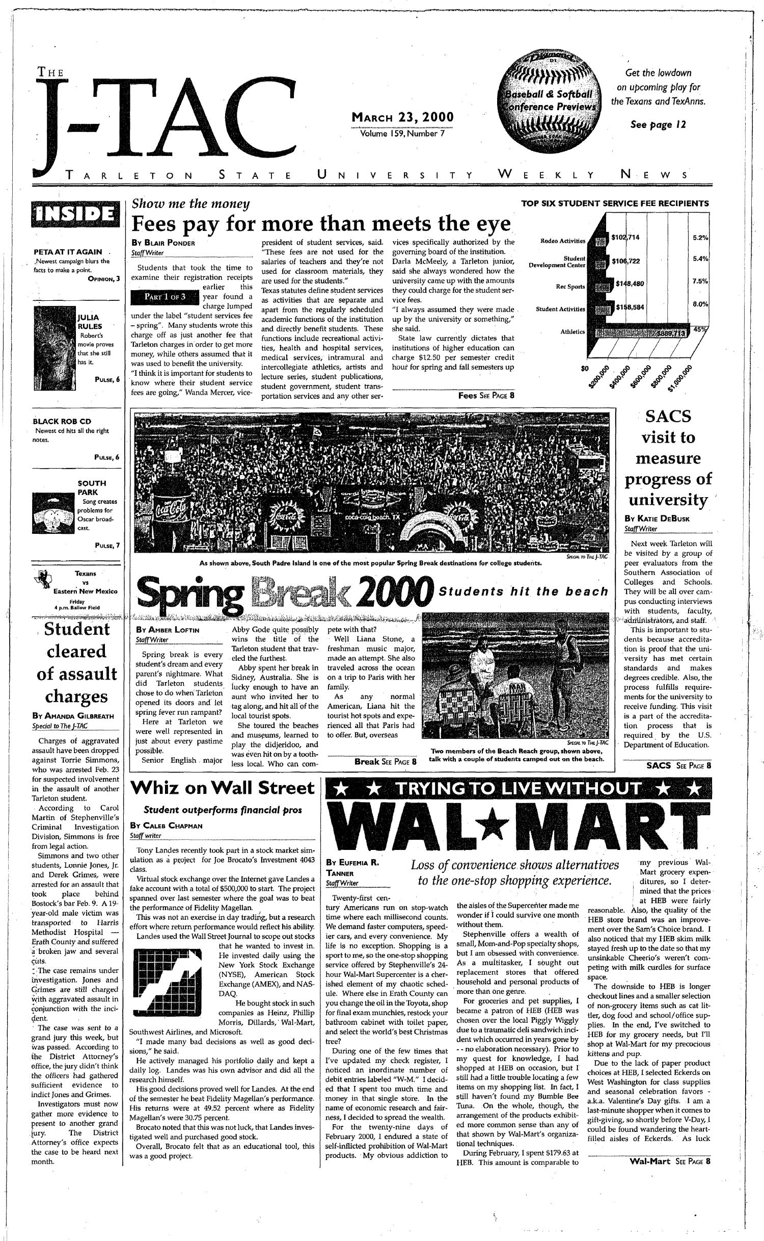 The J-TAC (Stephenville, Tex.), Vol. 159, No. 7, Ed. 1 Thursday, March 23, 2000                                                                                                      [Sequence #]: 1 of 12