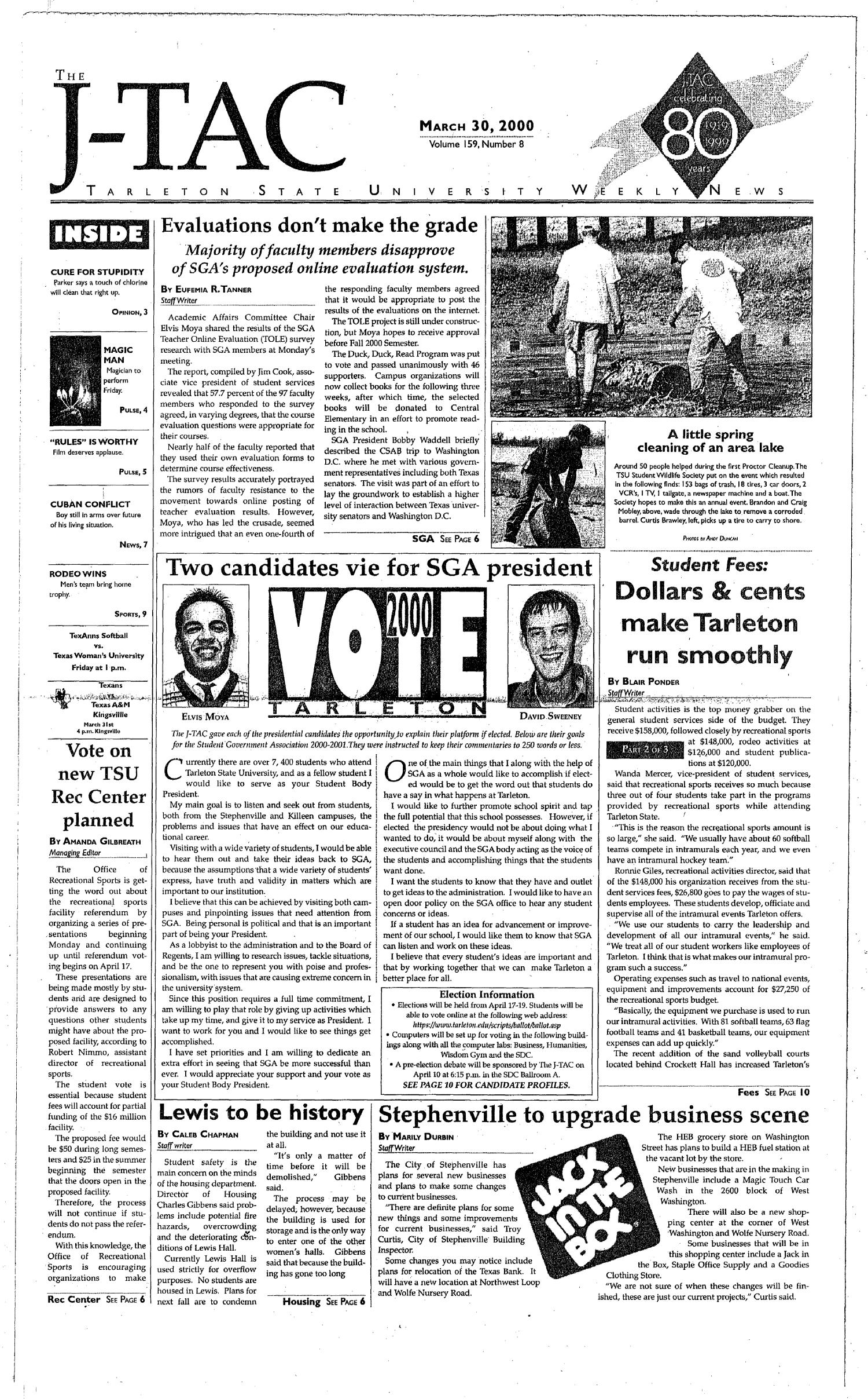 The J-TAC (Stephenville, Tex.), Vol. 159, No. 8, Ed. 1 Thursday, March 30, 2000                                                                                                      [Sequence #]: 1 of 10
