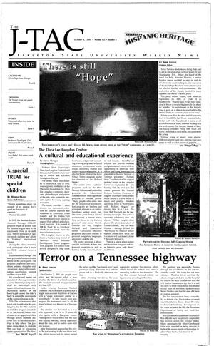 Primary view of object titled 'The J-TAC (Stephenville, Tex.), Vol. 162, No. 5, Ed. 1 Thursday, October 4, 2001'.