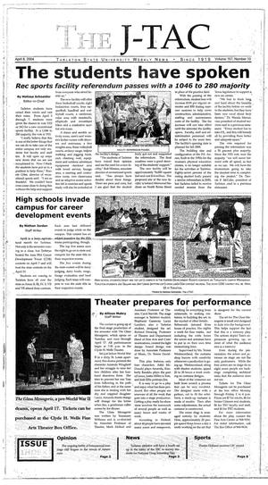 Primary view of The J-TAC (Stephenville, Tex.), Vol. 167, No. 10, Ed. 1 Thursday, April 8, 2004