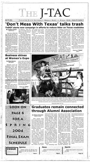 Primary view of The J-TAC (Stephenville, Tex.), Vol. 167, No. 11, Ed. 1 Thursday, April 15, 2004