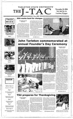 Primary view of The J-TAC (Stephenville, Tex.), Vol. 168, No. 14, Ed. 1 Thursday, November 18, 2004