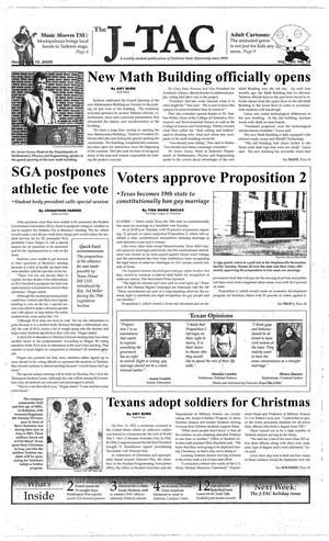 Primary view of object titled 'The J-TAC (Stephenville, Tex.), Vol. 170, No. 12, Ed. 1 Thursday, November 10, 2005'.