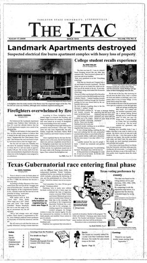 Primary view of object titled 'The J-TAC (Stephenville, Tex.), Vol. 172, No. 2, Ed. 1 Thursday, August 17, 2006'.