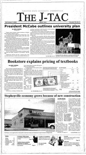 Primary view of The J-TAC (Stephenville, Tex.), Vol. 172, No. 3, Ed. 1 Thursday, September 7, 2006