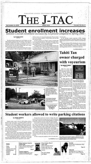 Primary view of The J-TAC (Stephenville, Tex.), Vol. 172, No. 4, Ed. 1 Thursday, September 14, 2006