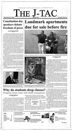 Primary view of The J-TAC (Stephenville, Tex.), Vol. 172, No. 5, Ed. 1 Thursday, September 21, 2006