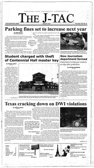 Primary view of object titled 'The J-TAC (Stephenville, Tex.), Vol. 172, No. 6, Ed. 1 Thursday, September 28, 2006'.