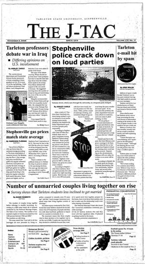 Primary view of object titled 'The J-TAC (Stephenville, Tex.), Vol. 172, No. 11, Ed. 1 Thursday, November 2, 2006'.