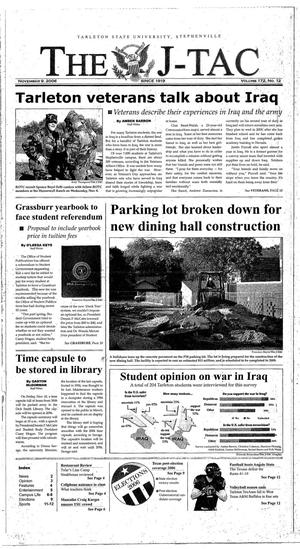 Primary view of The J-TAC (Stephenville, Tex.), Vol. 172, No. 12, Ed. 1 Thursday, November 9, 2006