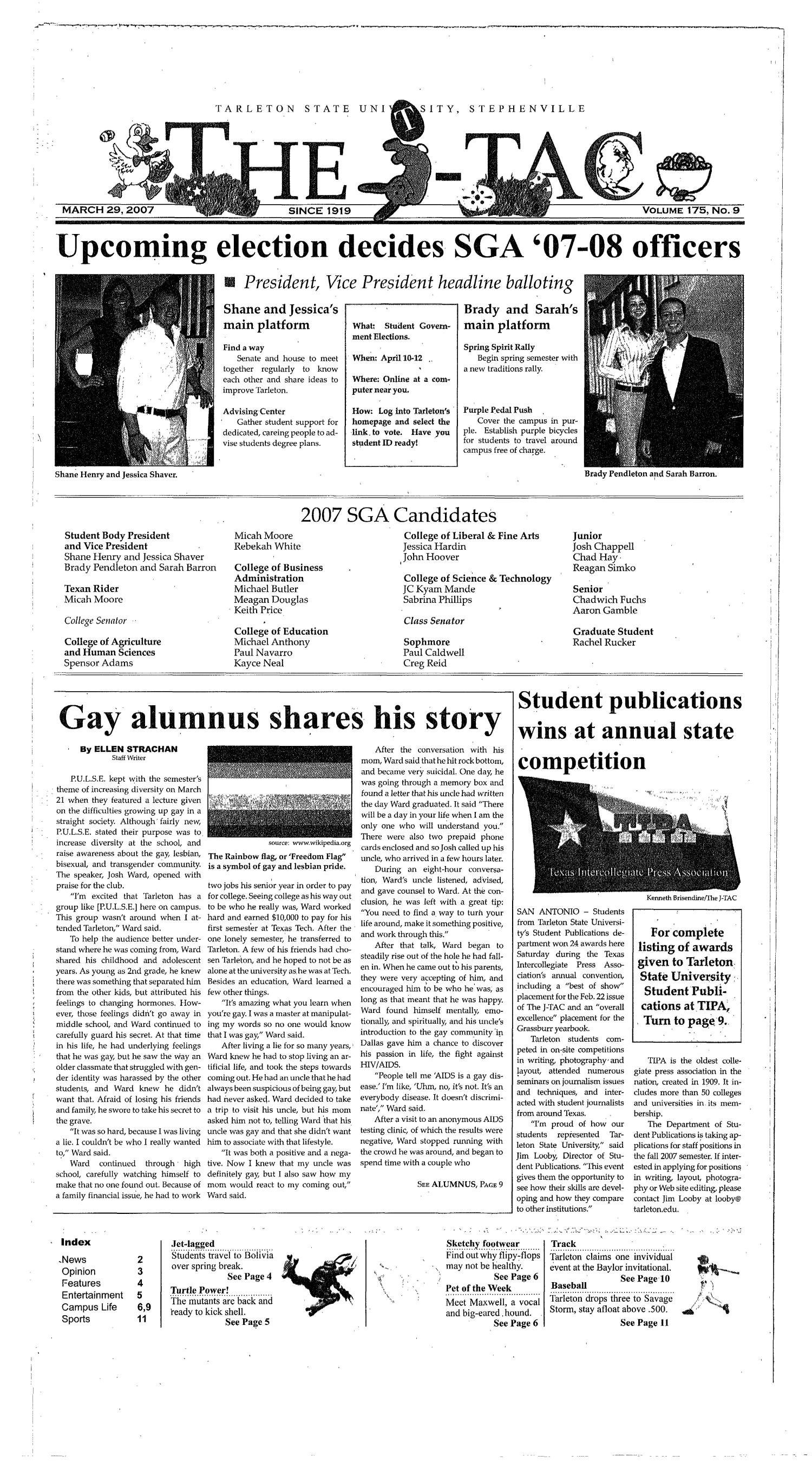 The J-TAC (Stephenville, Tex.), Vol. 173, No. 9, Ed. 1 Thursday, March 29, 2007                                                                                                      [Sequence #]: 1 of 12