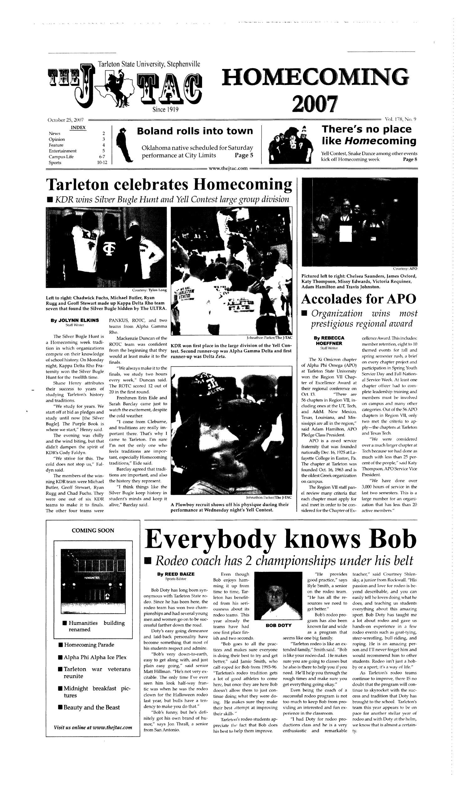 The J-TAC (Stephenville, Tex.), Vol. 178, No. 9, Ed. 1 Thursday, October 25, 2007                                                                                                      [Sequence #]: 1 of 12