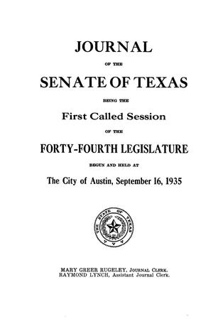 Journal of the Senate of Texas being the First Called Session of the Forty-Fourth Legislature