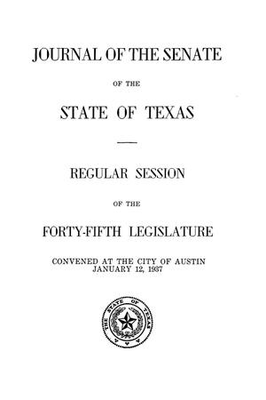 Primary view of object titled 'Journal of the Senate of  the State of Texas, Regular Session of the Forty-Fifth Legislature'.