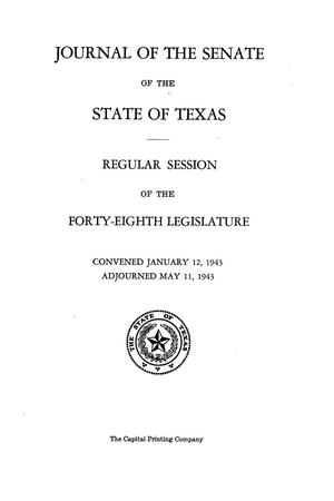 Primary view of object titled 'Journal of the Senate of the State of Texas, Regular Session of the Forty-Eighth Legislature'.
