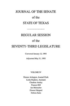 Primary view of object titled 'Journal of the Senate of the State of Texas, Regular Session of the Seventy-Third Legislature, Volume 4'.