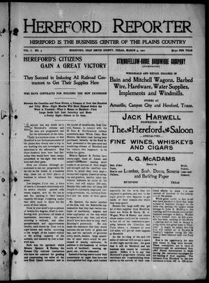 Hereford Reporter (Hereford, Tex.), Vol. 1, No. 3, Ed. 1 Saturday, March 9, 1901