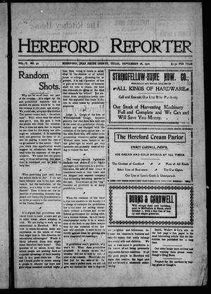 Primary view of object titled 'Hereford Reporter (Hereford, Tex.), Vol. 1, No. 32, Ed. 1 Friday, September 27, 1901'.