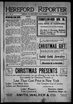 Hereford Reporter (Hereford, Tex.), Vol. 1, No. 43, Ed. 1 Friday, December 13, 1901