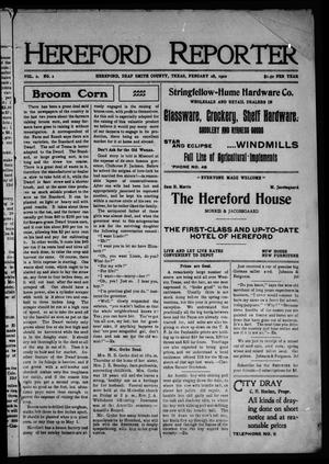 Primary view of object titled 'Hereford Reporter (Hereford, Tex.), Vol. 2, No. 2, Ed. 1 Friday, February 28, 1902'.