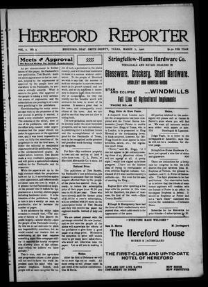 Hereford Reporter (Hereford, Tex.), Vol. 2, No. 3, Ed. 1 Friday, March 7, 1902