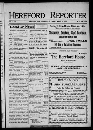 Hereford Reporter (Hereford, Tex.), Vol. 2, No. 4, Ed. 1 Friday, March 14, 1902