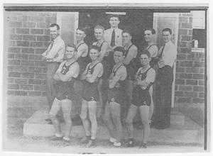 Primary view of object titled '1935-36 Van Horn Basketball Team, District Champs'.