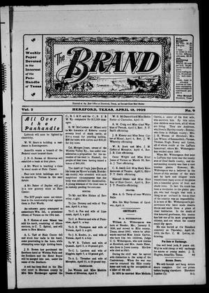 Primary view of object titled 'The Brand (Hereford, Tex.), Vol. 2, No. 9, Ed. 1 Friday, April 18, 1902'.