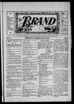 Primary view of object titled 'The Brand (Hereford, Tex.), Vol. 2, No. 11, Ed. 1 Friday, May 2, 1902'.