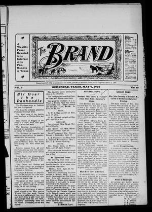 Primary view of object titled 'The Brand (Hereford, Tex.), Vol. 2, No. 12, Ed. 1 Friday, May 9, 1902'.