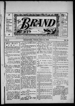 Primary view of object titled 'The Brand (Hereford, Tex.), Vol. 2, No. 13, Ed. 1 Friday, May 16, 1902'.
