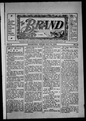 Primary view of object titled 'The Brand (Hereford, Tex.), Vol. 2, No. 14, Ed. 1 Friday, May 23, 1902'.