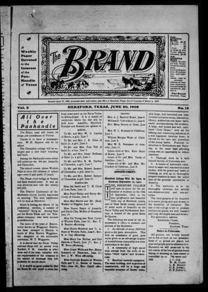 Primary view of object titled 'The Brand (Hereford, Tex.), Vol. 2, No. 18, Ed. 1 Friday, June 20, 1902'.