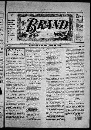 Primary view of object titled 'The Brand (Hereford, Tex.), Vol. 2, No. 19, Ed. 1 Friday, June 27, 1902'.