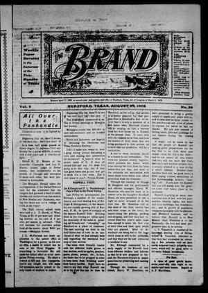 Primary view of object titled 'The Brand (Hereford, Tex.), Vol. 2, No. 28, Ed. 1 Friday, August 29, 1902'.